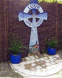 Mosaic Cross at Our Lady of Lourdes Primary School Rottingdean