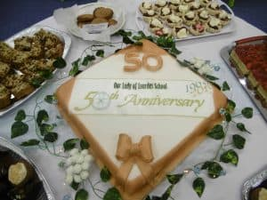 50th Anniversary Celebrations cake