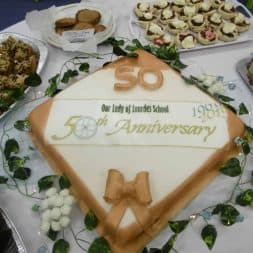 50th Anniversary Celebrations cake